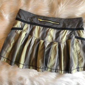 Lululemon Reflection Skirt Stripe Coal Citrus